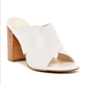 Cole haan gabby crisscross mule sandals 10 white